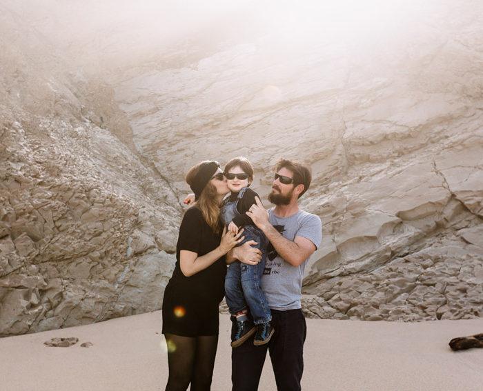 Séance photo grossesse en famille Bidart | Mme A.S., Mr P., petit E. et babybump