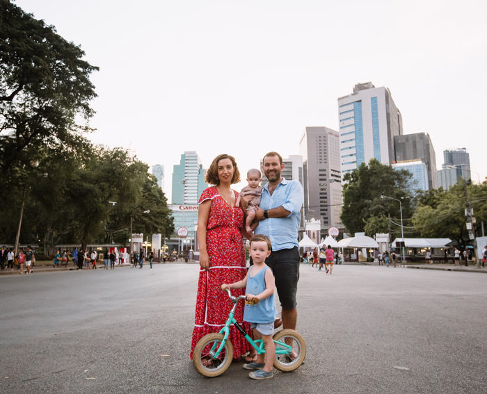 Reportage photo Famille Bangkok | Mme E., Mr L., petit L. et petite C.